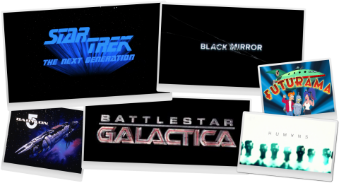 Top 5 SciFi TV shows collage