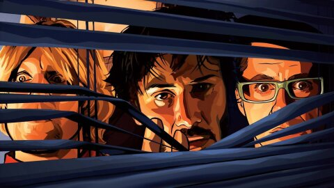 A Scanner Darkly backdrop