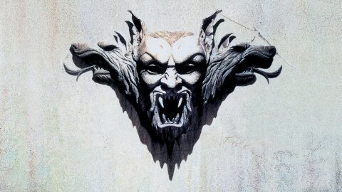 Scary monster head sculpture Bram Stoker's Dracula movie backdrop