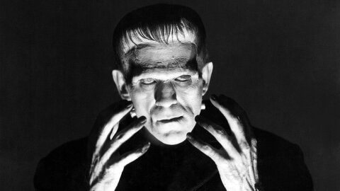 Frankenstein 1931 Boris Karloff movie backdrop