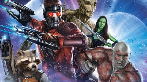 Guardians of the Galaxy team picture movie backdrop