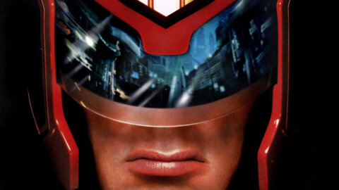 Grumpy-Gus Judge Dredd stallone close-up movie backdrop