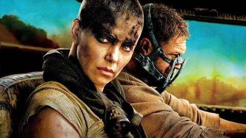 Furiosa glaring Fury Road move backdrop