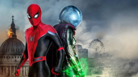 Spider-Man and Mysterio, standing