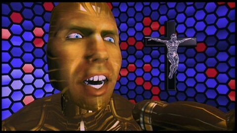 Lawnmower Man VR backdrop