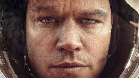 The Martian Matt Damon backdrop
