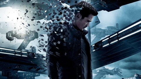 Colin Farrel disintegrating into bits