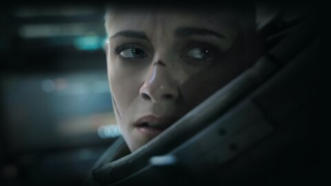 Kristen Stewart in a space marine sea suit