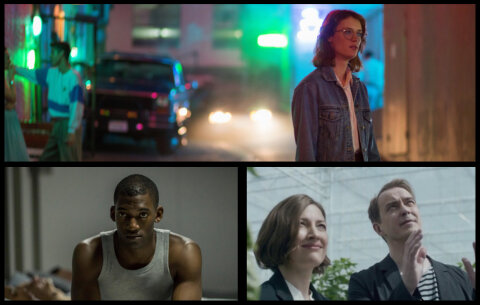 Black Mirror season 3 collage featuring episodes San Junipero, Men against Fire, and Hated in the Nation