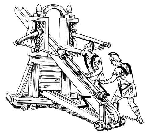 Roman Ballista being loaded